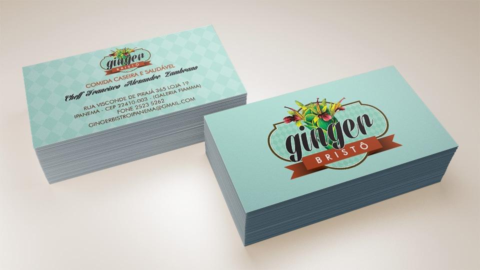 Ginger Bistrô, cartão de visita