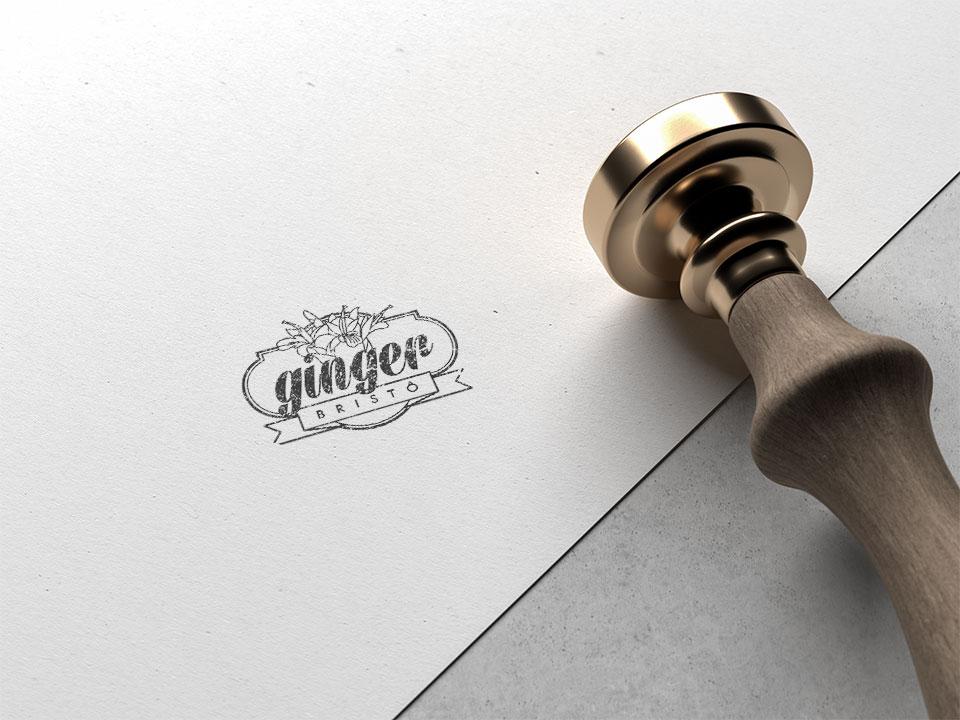 Ginger Bistrô, marca carimbada