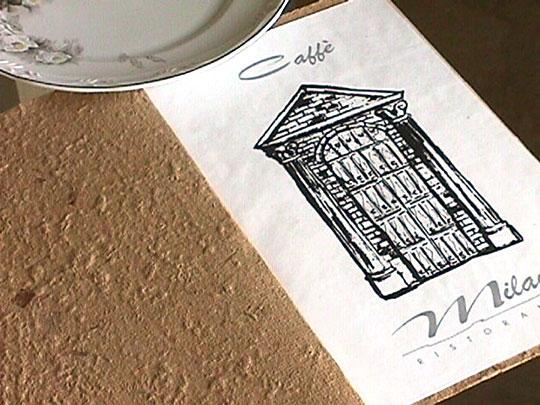 Cardápio Café Milano - abertura