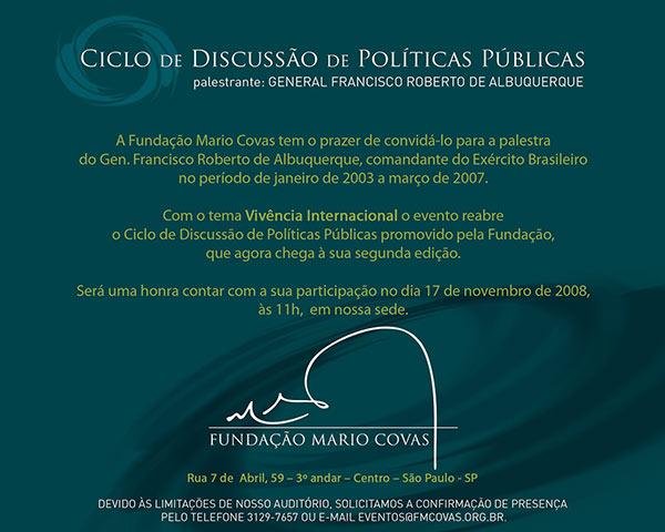 Convite Ciclo de Discussão de Políticas Públicas