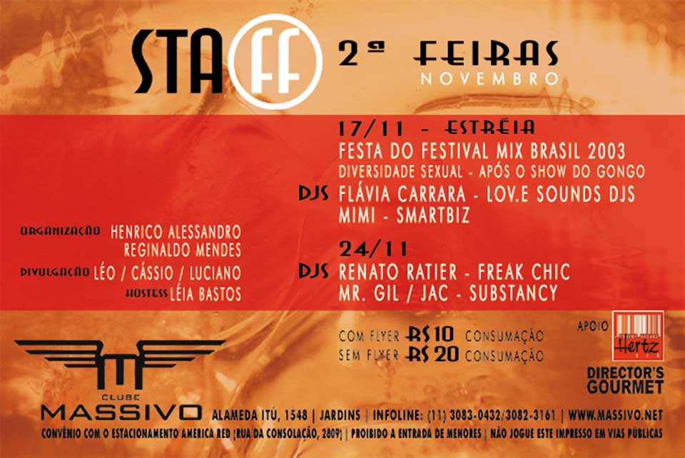 Festa Staff by Club Massivo - verso