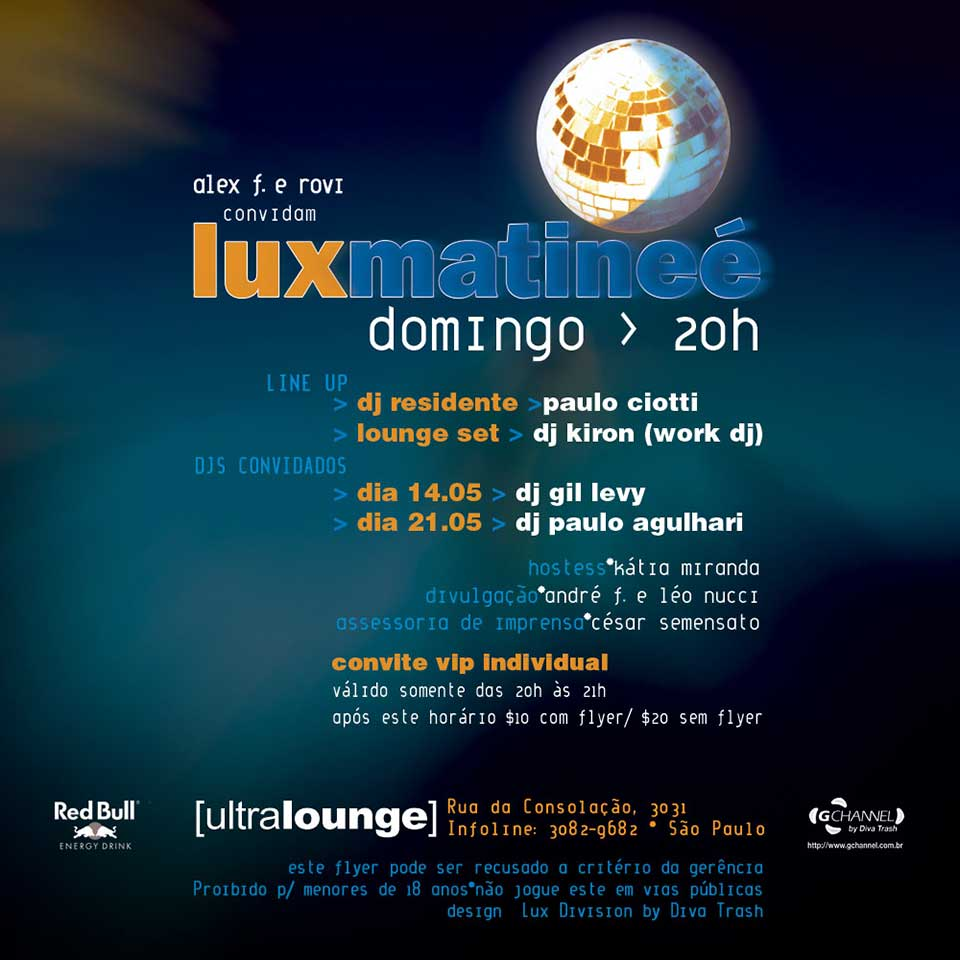 Festa Lux by Ultralounge - verso