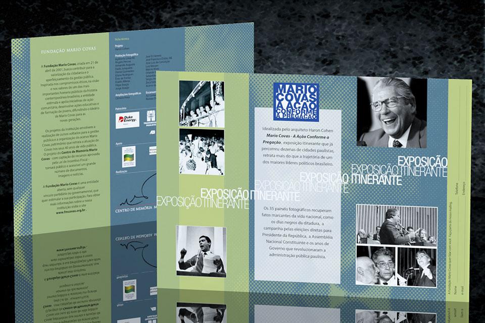 Folder Exposição Itinerante Fundação Mario Covas