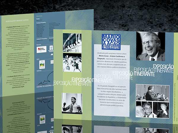 Folder Exposição Itinerante Mario Covas - A ação conforme a pregação