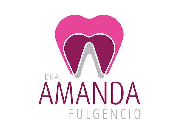 logomarca Dra. Amanda Fulgêncio - dentista