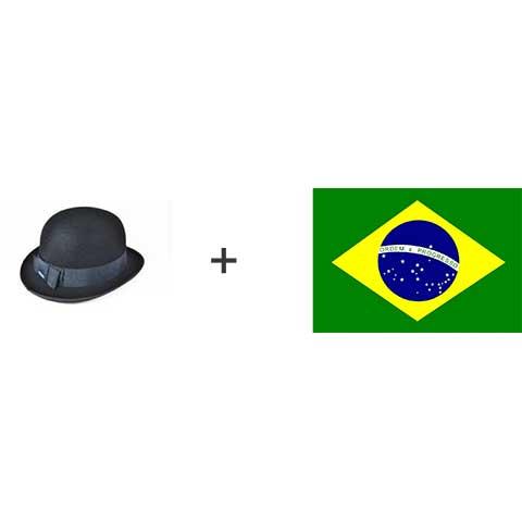 Chapéu-coco e a bandeira do Brasil