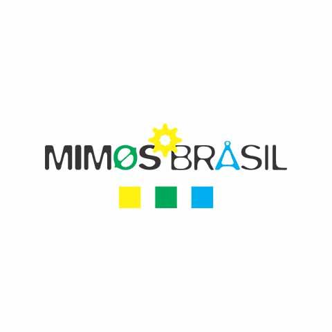 Aplicação das cores na logomarca Mimos Brasil