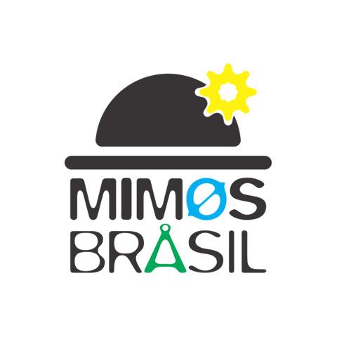 Forma oficial da logomarca Mimos Brasil em cores