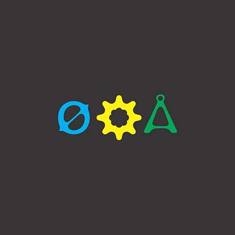 Ícones da logo em cores