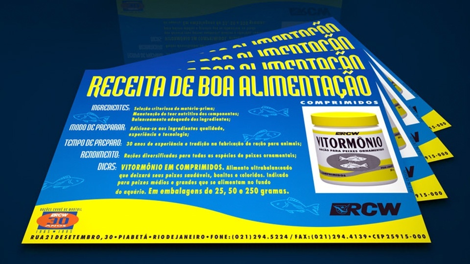 Lâminas para ração Vitormônio em comprimidos