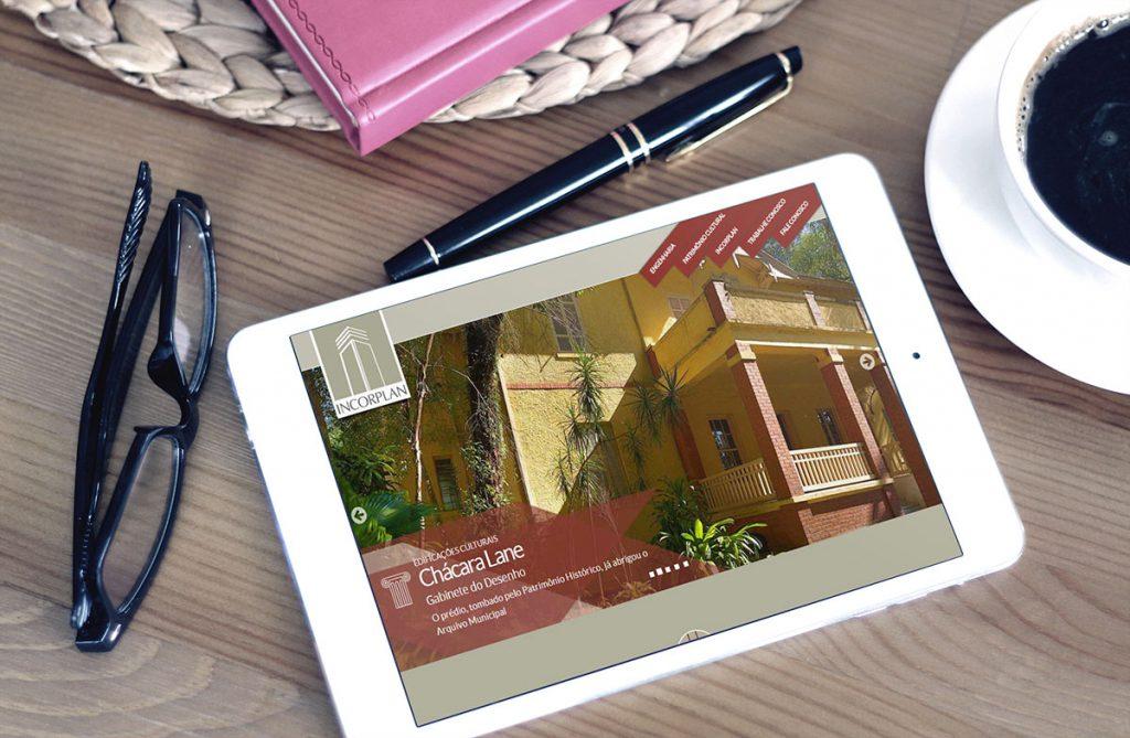 Página inicial em iPad